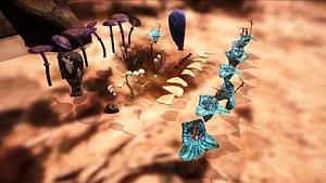 3D Star wars sci-fi Felucia stuff model