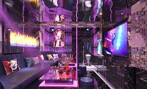 3D KTV bar box box big box entertainment club volume style science fiction science and technology sense