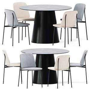 3D Dining Table Circula Blu Dot