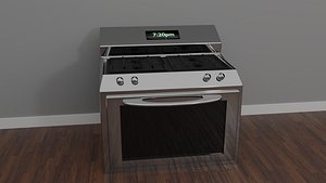 simple oven and refrigerator 3D