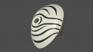 3D model mask obito white