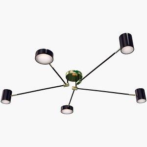 3D Modern Chandelier 2 model