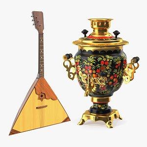 3D russian traditional symbols russia model