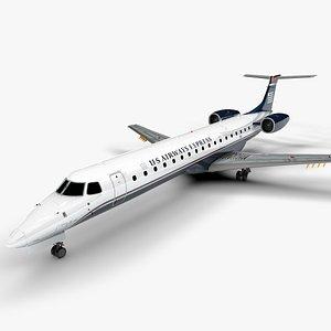 US AIRWAYS EXPRESS EMBRAER ERJ 145 L1398 3D model