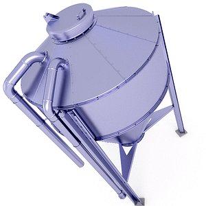 Farm Grain Silo 31 3D model