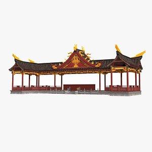 3D ancient building luxury model