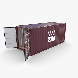 20ft Shipping Container ZIM model
