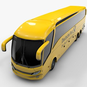 shuttle bus deutsche 3D model