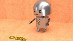 3D sad robot