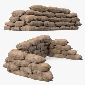 Sandbag Barricade Dusty model