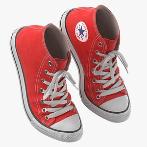 3D Basketball Shoes Bent Red model