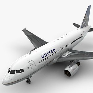 3D Airbus A319-100 UNITED Airlines L1379