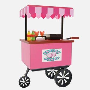 3D Cotton Candy Cart model