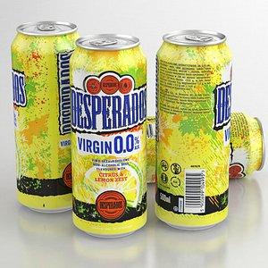 3D model Beer Can Desperados Virgin Noalco 500ml 2021