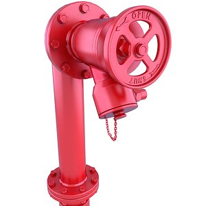 3D hydrant red