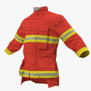 3D firefighting coat model