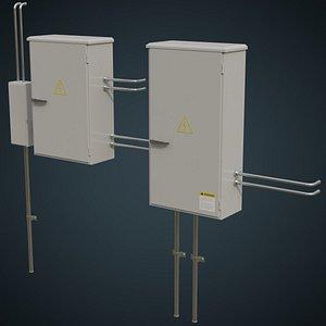3D utility box 1a model