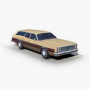 dodge monaco 1977 station wagon 3D model