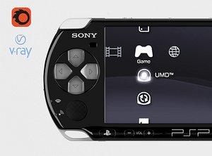 psp portable console 3D