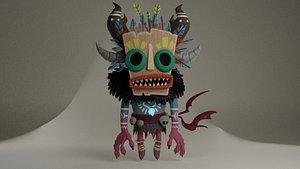 cute shaman 3D model