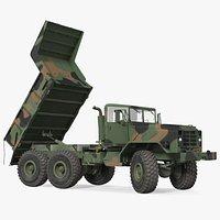 M939 Military Dump Truck Green Rigged