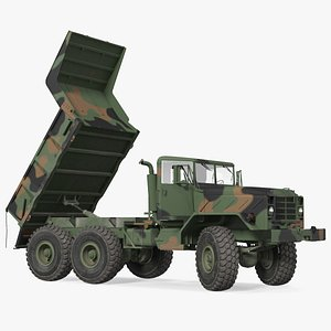 3D model M939 Military Dump Truck Green Rigged