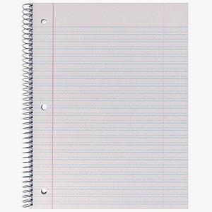 notebook notepad 3D model