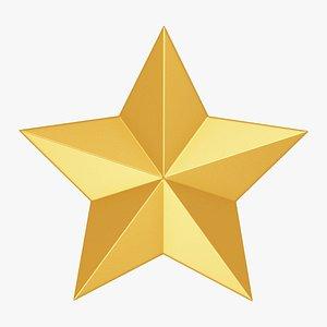 3D star gold model