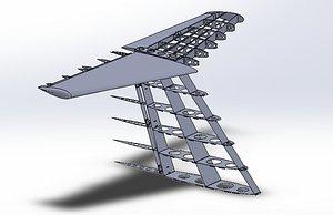 empennage learjet stabilizer 3D model