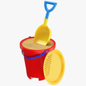 3D bucket shovel