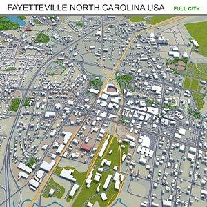 Fayetteville North Carolina USA 3D model