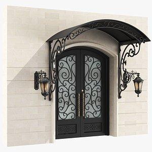 3D classic door exterior model