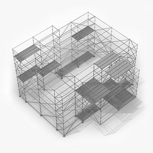 Strong Cantilever Structure - Layher Multidirectional Scaffolding 3D model