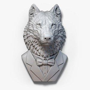3D wolf suit sculpture model