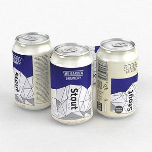 Beer Can Garden Brewery Stout 330ml 2021 3D model