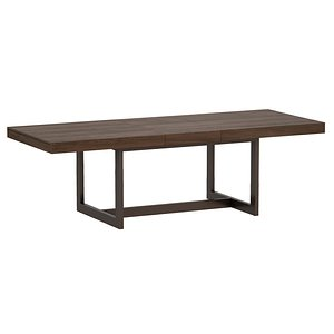 3D Archive Extension Storage Dining Table Open