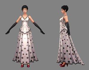 3D beauty woman model