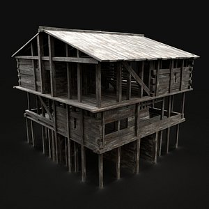 medieval watchtower scout 3D model