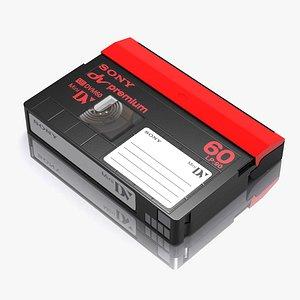 3d model minidv tape