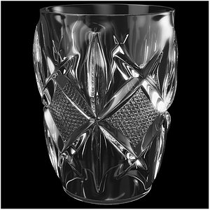 Crystal Water Glass 3D model