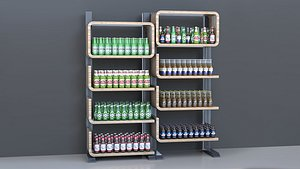 shelves beer 3D model
