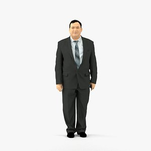 3D scanned realistic human