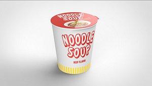 3D noodle soup