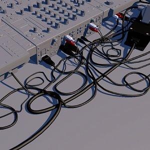 3D Cables for dj setup model