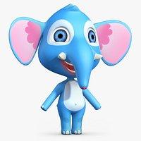 Cartoon Elephant No Rig