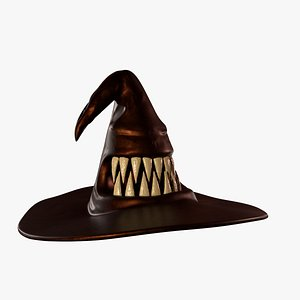 3D Monster Witch Hat model