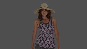 3D 5 Rigged Female pack vol. 2 model