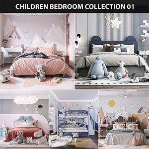 Children bedroom Collection 01 3D model