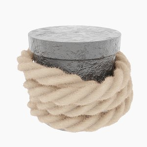 3D Rope around Mooring post