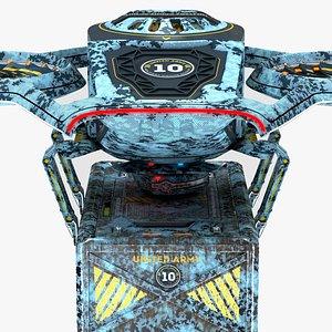 3D Military Drone Prospector